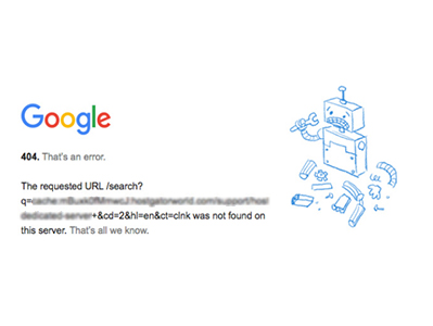 Google Cache Server 404 Internal Issue has been Resolved