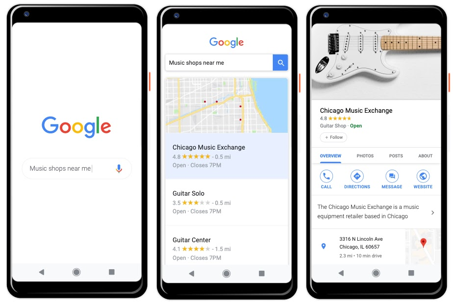 Google Business on Mobile